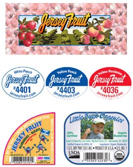 Jersey Fruit product labels
